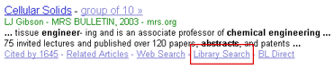 Illustration: The WorldCat-enabled Library Search link on a Google Scholar search result
